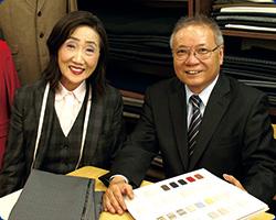 平塚夫妻の写真。