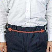 ゴムを使用したズボンの写真